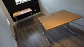 High Quality Office Desks x2 / Heavy&Sturdy / Cable Trunking / PRICED AS PAIR (Ask for single price)