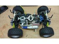 Thunder Tiger SSK V1 RC radio controlled nitro monster truck MT buggy 1/10th 10th scale petrol