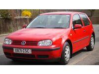 3 Door Volkswagen Golf Mk4 - Good condition for age (X Reg) & runs well, No MOT (Spares or Repair)