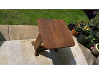 A Vintage Oak Cards Playing Drop-leaf Table.