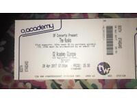 2 tickets for The Kooks, Glasgow 28th April