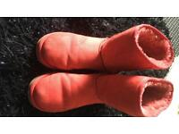 Genuine Red Ugg boots size uk 6.5