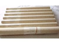 6 unopened rolls Colefax & Fowler vintage wallpaper plus one opened roll.
