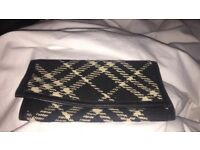 Burberry checked bag black and white plus matching purse