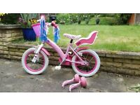 "Hello Kitty Kids' Bike - 14"" wheels Good Condition. Only £40"