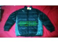 brand new with tags puma jacket coat size L