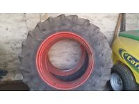 4 tractor tyres 600/65/38 & 480/65/28