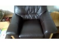 dfs armchair leather brown so comfortable great relax after work very good condition wood heavy