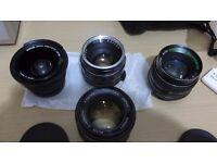 VARIOUS LENSES FOR SALE M42, PENTAX K, C-MOUNT FIT NAVITAR 16-160MM F2