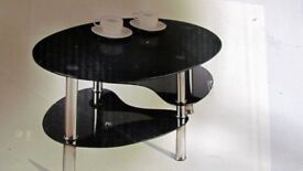 A Range Sydney Coffee Table - Black Glass unassembled and still boxed (box dirty)
