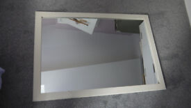 Large Mirror (68cm by 100cm) White Wood Frame