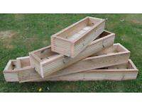 Handmade Wooden Decking Window Boxes planters, various sizes, made to order