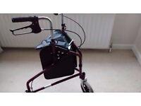 3 wheeled walker /shopper with brakes.