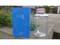 2x Rink Drink Kentucky Glass Punch / Cocktail Barrel With Tap - 8500ml - Gift Boxed