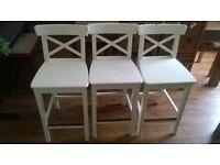 3 ikea breakfast bar kitchen stools