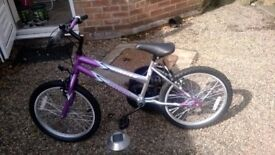 Child's Mountain type Bicycle with 7 Shimano gears suit girl or boy in very good condition.