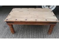 RUSTIC COFFEE TABLE 100x 60 cms vgc