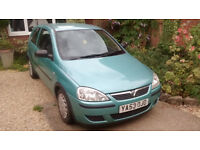 Vauxhall Corsa Life 2003, met blue/green good condition ,history, 92600 miles £600