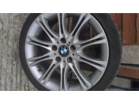 "BMW ALLOYS 2 SETS WITH GOOD TYRES E46 E37 E36 MOST BMW FIT ""18"""