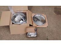 PYRAMIS IRIS Bowl Undermount Kitchen Sink, Drainer & Tap, Stainless Steel