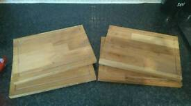4 x brand new wooden platters