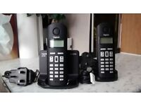 SIEMENS GIGASET AL140 CORDLESS TWO PHONE SYSTEM