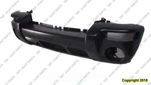 Bumper Front Primed-Black Renegade Model With Hole For Center Applique Jeep Liberty 2002-2004
