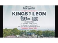 Kings of Leon British Summer Time Tickets x2