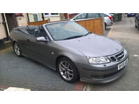 2005 Saab Aero 9-3, 2.0T, CONVERTIBLE - ONLY 78,094 miles - M.O.T. July 2018 - Auto - Business pack