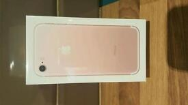 Apple iPhone 7 256 gb in rose gold unlocked brand new in packaging