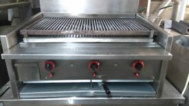 Restauran Takeaway Fast Food Archway Charcoal Grill Short Classic 3 Burner Short Grill With Lavarock