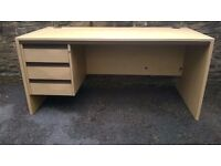 LIGHT BEACH DESK WITH 3 DRAWERS