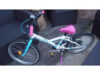"B'twin Girls Bike 20"" Immaculate Condition Hardly Used - With Helmet"