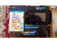 Nintendo Wii U 32GB Black - Boxed & Mint Condition with games!