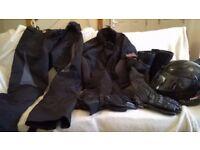 Motorbike gear for sale, jacket, trousers, braces, helmet, gloves, boots, vgc