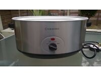Cookworks 5.5L Slow Cooker - Stainless Steel
