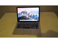"Macbook Pro, 13"" Retina screen, 8GB, 512SSD,I5 2.6GHz, magsafe charger, running OSX Sierra"