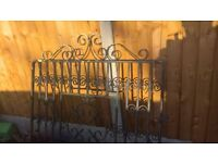 solid wrought iron driveway gates and wall fence