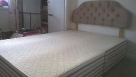 Double Divan Bed with Headboard