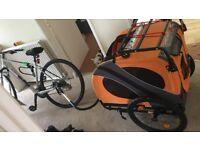 Bike Pet Trailer - Doggyride Novel 10 Ltd Ed. Dog Bike Trailer With Roof Rack & Stroller Kit Add On