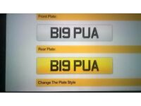 Personalised number plate for the playa!
