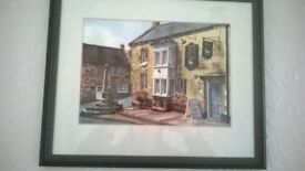 Framed print of The Bull Terrier pub in Croscombe which is no longer a pub