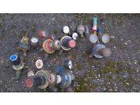 Oxygen & Acetylene Gauges (4 Oxygen/3 Acetylene) 5x Anti Return Valves (1 brand new one)