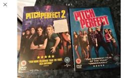 Pitch perfect 1&2 DVD's- new