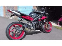 16' Triumph Street Triple Rx Immaculate
