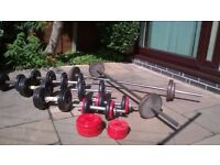 Free weights selection