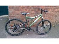 "men's trax mountain edge bike 26"" full disc brakes wheels"