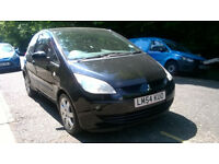 MITSUBISHI COLT MIRAGE 1.3 2005 54 REG MET BLACK 3 DOOR HATHBACK 5 SPEED MANUAL PAS A/C 107K SUPERB