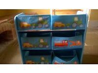 Childrens Basket Storage Unit - 3 Tier, 6 Baskets