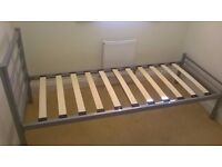 Small single bed with mattress